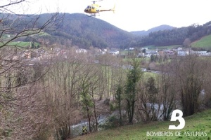rastreo con helicóptero