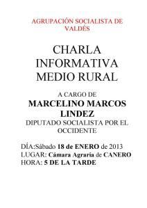 charla socialista medio rural